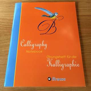 Calligraphy Notebook / copybook (used)