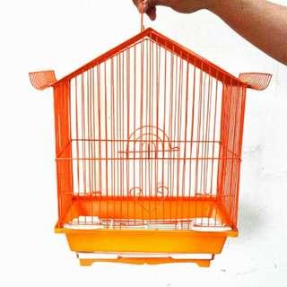 Orange Bird Cage