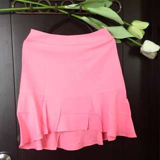 BUNDLE! Neon Pink Longback Mini Mermaid Skirt/Baby Pink Crop Top