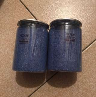 Blue coloured sand (one bottle)