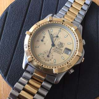 Vintage Automatic 自動 Tag Heuer 2000 Chronograph 42mm with crown (不議價)