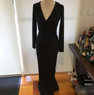 Kookai black long sleeve dress