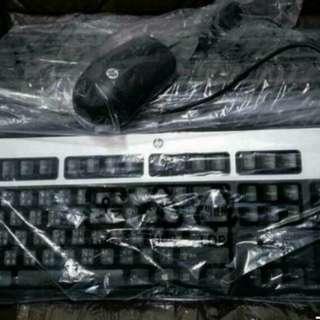 全新原裝 HP 有線鍵盤,滑鼠 USB Keyboard & Mouse