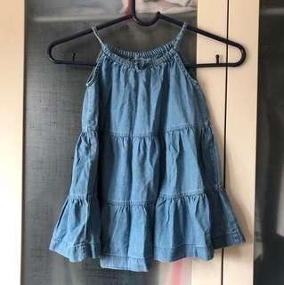 GAP toddler denim dress size 18/24 mo