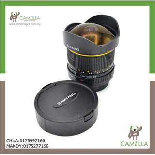 USED SAMYANG LENS 8mm 1:3.5 FISH-EYE CS(FOR CANON)