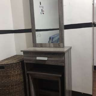 Vanity Table with Sliding Mirror