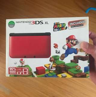 Nintendo 3DS XL with Mario pre installed