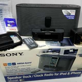 全新 中古 Sony 鬧鐘 收音機 有遙控 3.5mm輸入