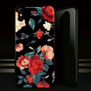 Rose玫瑰花 玻璃 iPhone X電話殼 Apple蘋果