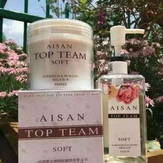 Aisan Top Team Shampoo & Hair Mask 微女神洗发汁 & 发膜