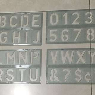 Number & letter plate each $7