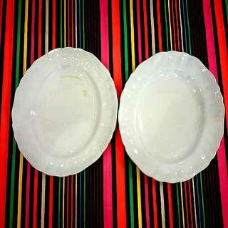 2x J&G Meakin Oval Blue Plates