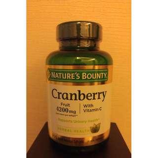 「老婆有吃才代購」Nature's Bounty Cranberry Vitamin C 250顆 蔓越莓 維他命C