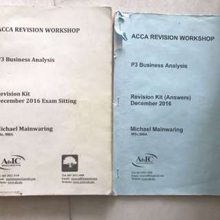 ACCA P3 revision kit