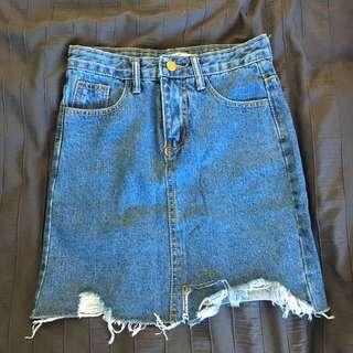 Cheep Denim Skirt