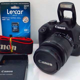 Canon EOS 1200D with 18-55mm kitlens