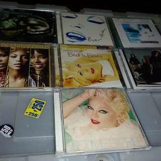 300 each. Original CD albums