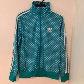 Adidas jacket in turquiose blue