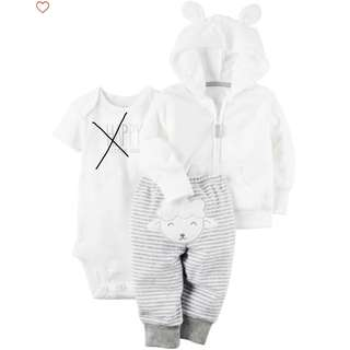BN Carter's 2 piece Terry Little Jacket Set (6M)
