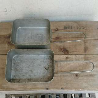 Vintage British Army Mess Tin (a pair)