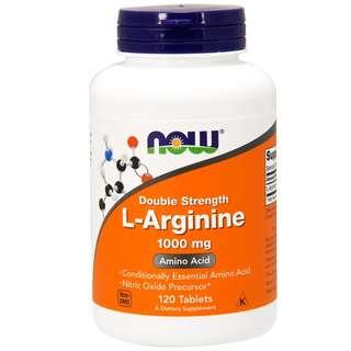 「自己有吃才代購」NOW FOODS L-Arginine 精胺酸 精氨酸1000mg 120顆 一氧化氮