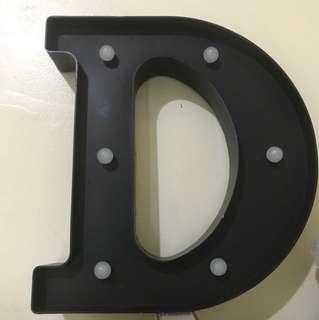 """Letter Light """"D"""""""