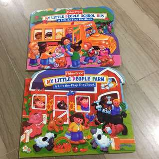 Set of 2 Fisher Price Lift the Flap Books (1-3 years)