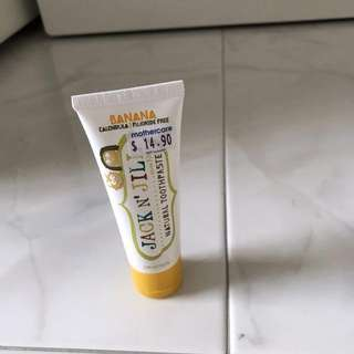 Jack and jill Natural toothpaste