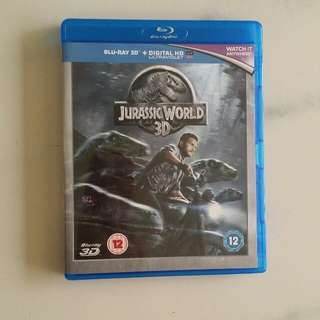 JURASSIC WORLD Bluray 3D Disc