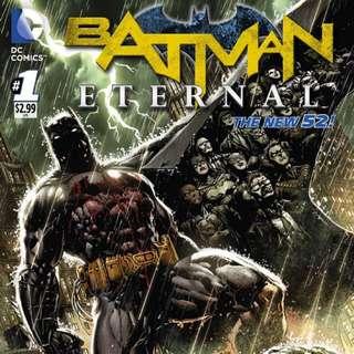 D.C. Batman Eternal full run issues 1-52 NM condition