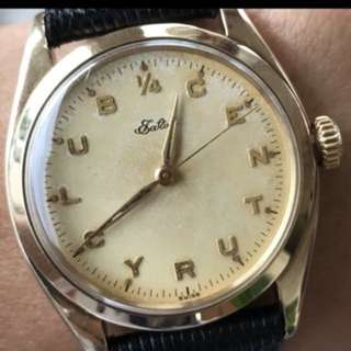 "Vintage ""14K Eaton""1946 manual movement /RARE STEALTH ROLEX"