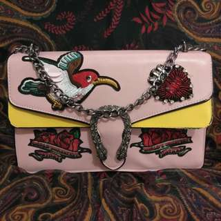 Authentic pretty in pink bag with chain sling