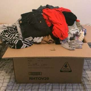 Massive box of bulk clothing