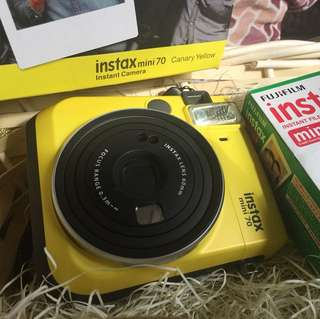 Fuji Film Instax mini 70 canary yellow Instant Camera