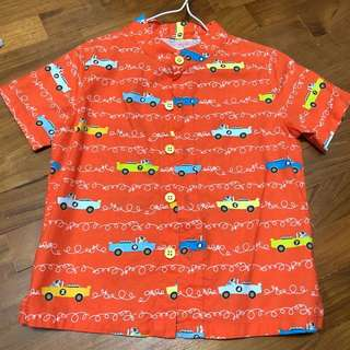 Boys cars mandarin top tee shirt