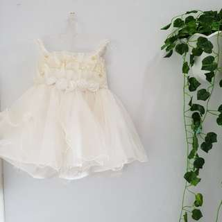 JUAL RUGI NEW 809 dress anak bayi size 1 broken white
