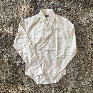 Kemeja Zara Man Putih Motif Line