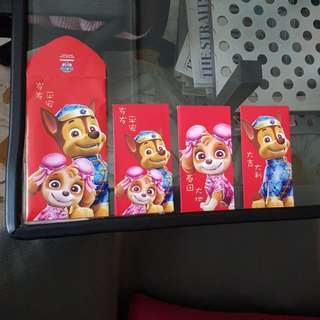 2018 Paw Patrol Red Packets/Ang Baos (1packet x 8pcs)