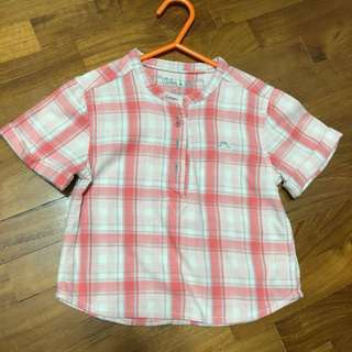 Chateau de sable Checkered shirt Top