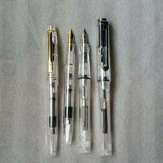 鋼筆墨囊兩用送金粉墨水