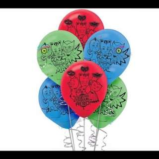 🌈 PJ Masks party supplies - PJ Masks latex balloons / party deco