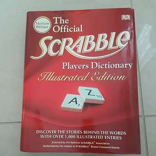 Scrabble player Dictionary Illustrated edition
