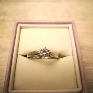 Solitaire Diamond Ring 0.34 carats 18k White Gold