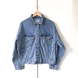 Pull and Bear Oversized Denim Jacket