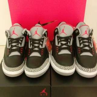 """Jordan 3 """"Black Cement"""""""