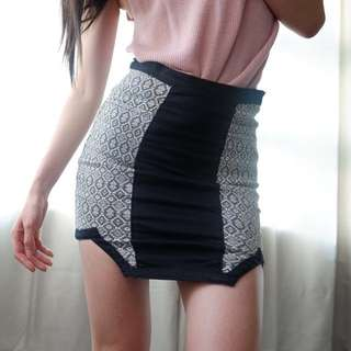 Oxygen tribal printed skirt