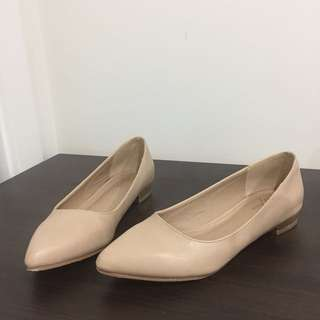 SPURR ICONIC Nude Flats Pointed Toe