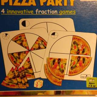 Math game - Pizza party fraction game