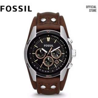 🥇[PROMO SALE] Fossil Coachman Chronograph Men's Brown Leather Watch