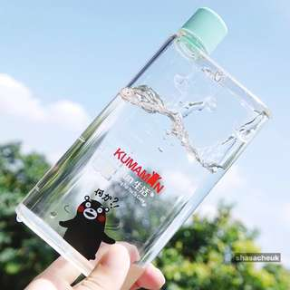A6熊本熊扁平紙片塑膠水樽 紙張水瓶 水杯 -  青色 A6 Kumamon Memo Bottle / Flat Plastic Water Bottles / MemoBottles / Reusable Water Bottles / Cups / Kettle - Blue